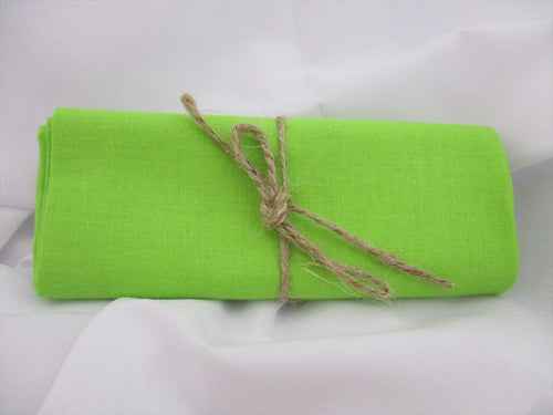 Plain Flo Green 100% Cotton Fabric