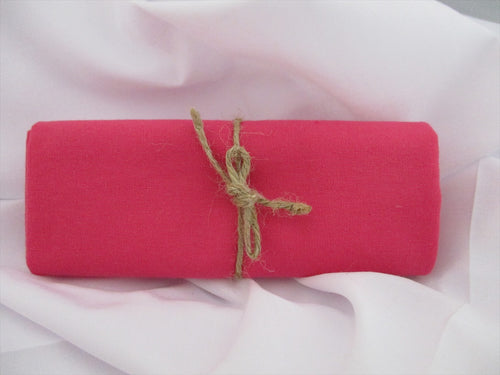 Plain Cerise Pink 100% Cotton Fabric