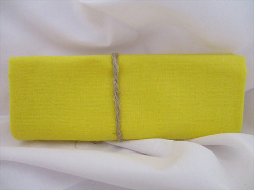 Plain Yellow 100% Cotton Fabric
