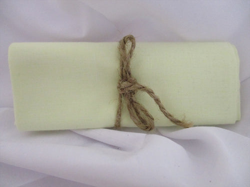Plain Cream 100% Cotton Fabric