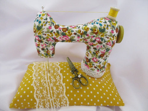 Free Sewing Machine Pin Cushion Pattern designed by Jane O'Connell