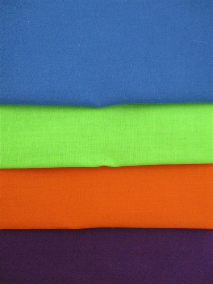Plain Poly Cotton Brights Fat Quarter Bundle