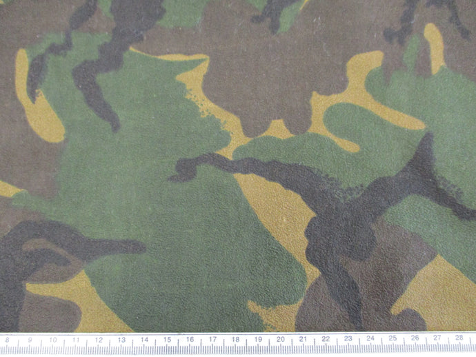 Canvas Swede Effect Woodland Camouflage Design
