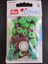 Load image into Gallery viewer, Prym 12mm Plastic Snaps Assorted Colors