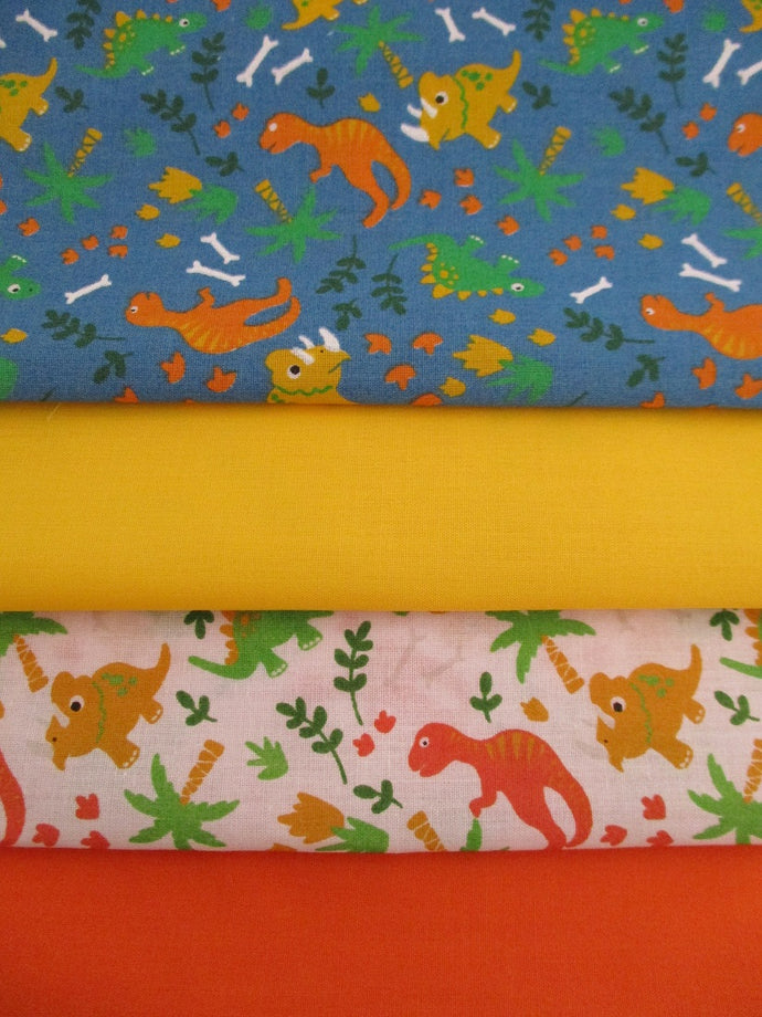 Cute Little Dinosaurs Fat Quarter Bundle Poly Cotton