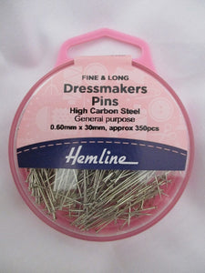 Dressmaking Pins and Safety Pins