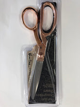 "Load image into Gallery viewer, Pemium Rose Gold Quality Dressmaking Scissors with 210mm / 8 1/4"" blades."