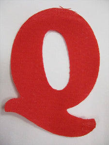 Iron on Fabric Applique Letters Red or Black