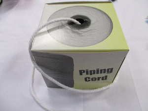 Piping Cord White 3 Sizes 100% Cotton
