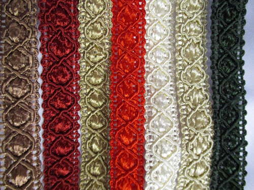 Upholstery or Clothing Trim Braid  Available in 7 Colors