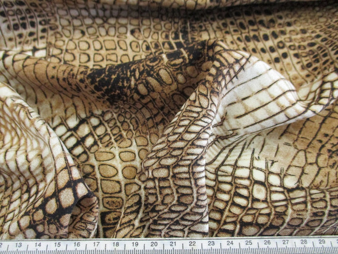 Viscose Reptile Design Dress Fabric