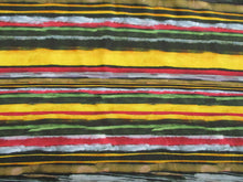 Load image into Gallery viewer, Jersey Multi Colour Stripe 95% Viscose 5% Elastane