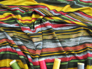 Jersey Multi Colour Stripe 95% Viscose 5% Elastane