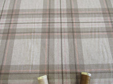 Load image into Gallery viewer, Linen Tartan Watch Taupe on a Natural Background