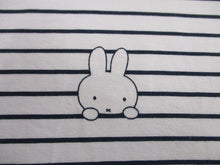 Load image into Gallery viewer, Jersey Miffy Black Stripe on a White Background 97% Cotton 3% Elastane