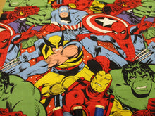 Load image into Gallery viewer, Marvel Collage Large Design Bright Multi Colors 100% Cotton