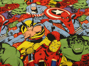 Marvel Collage Large Design Bright Multi Colors 100% Cotton