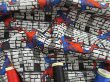 Load image into Gallery viewer, Marvel Spiderman Crawler on a Brick Wall 100% Cotton