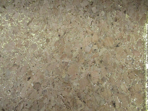 Cork Fabric Gold Lurex 50% Natural Wood 2% Glue 48% Poly Cotton