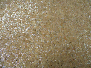 Cork Fabric Silver Lurex 50% Natural Wood 2% Glue 48% Poly Cotton
