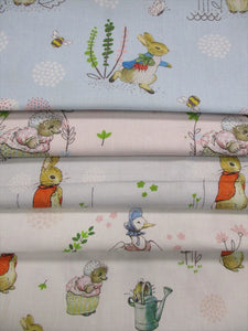 Beatrix Potter Petter Rabbit & Friends Fat Quarter Bundle  100% Cotton