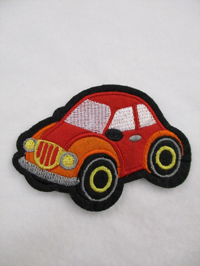 Car Sew on or Stick on Embroidered Fabric Motif 6.5cm x 9.5cm