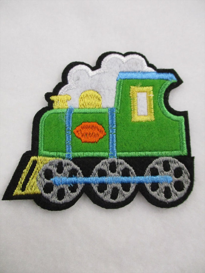 Train Sew on or Stick on Embroidered Fabric Motif 7cm x 8.5cm