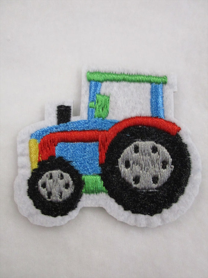 Tractor Sew on or Stick on Embroidered Fabric Motif 5cm x 6cm