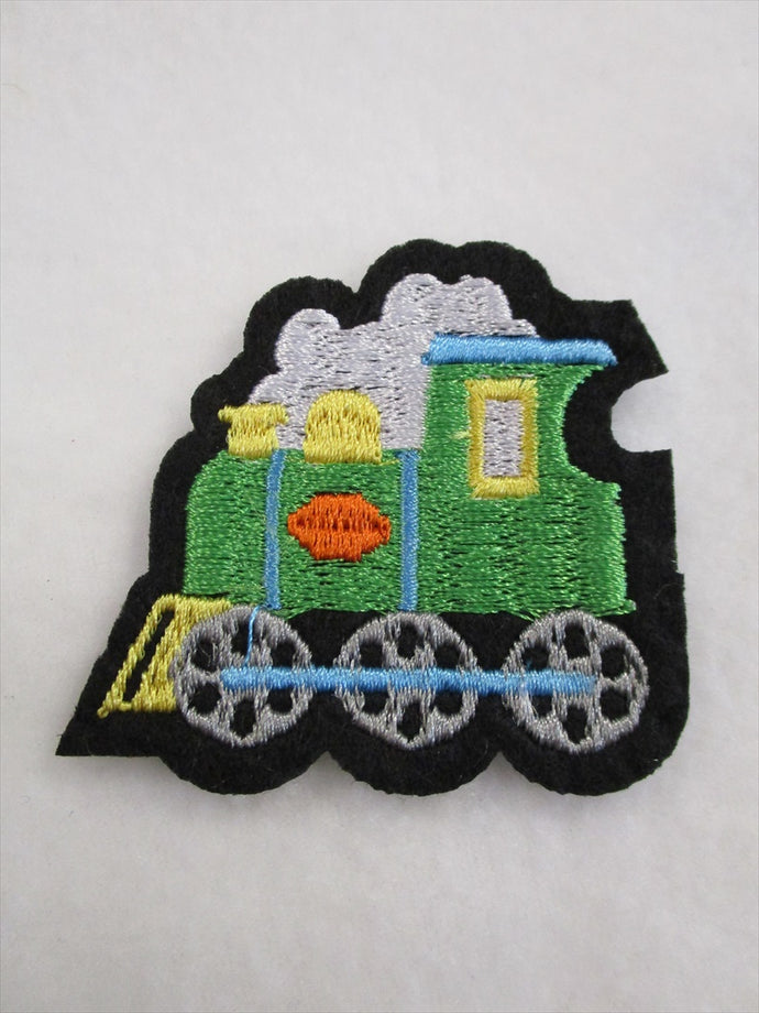 Train Sew on or Stick on Embroidered Fabric Motif 5.5cm x 6cm