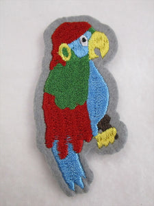 Parrot Sew on or Stick on Embroidered Fabric Motif 8cm x 4.5cm