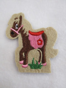 Donkey Sew on or Stick on Embroidered Fabric Motif 7cm x 8cm