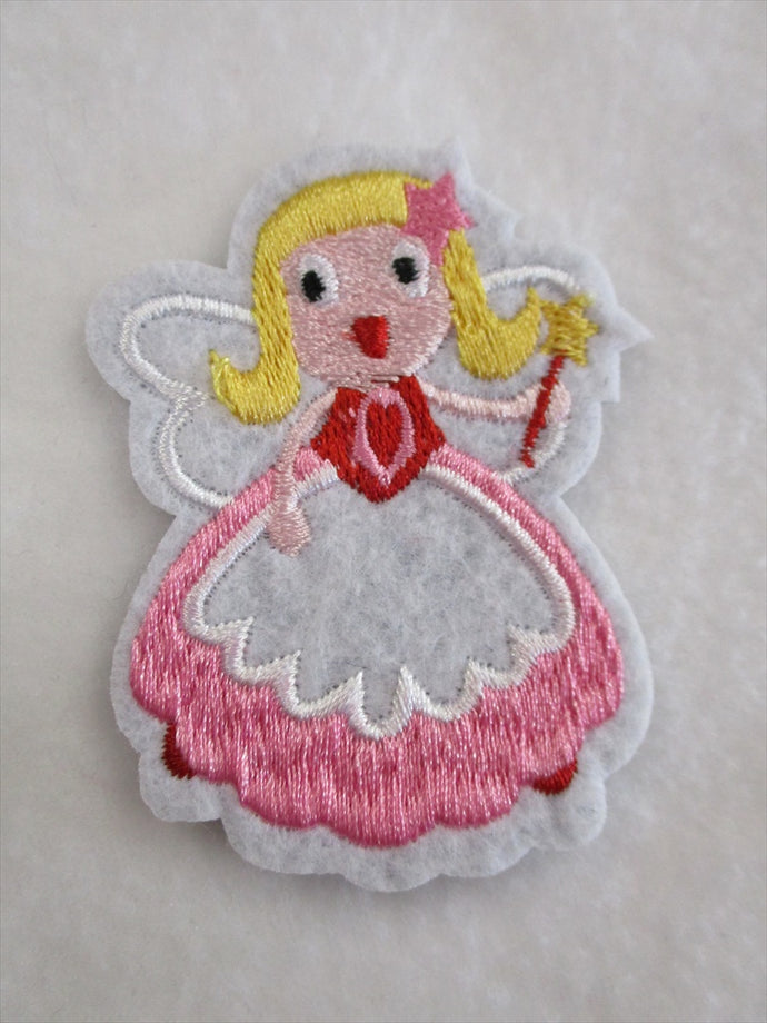 Princess Sew on or Stick on Embroidered Fabric Motif 7cm x 5cm