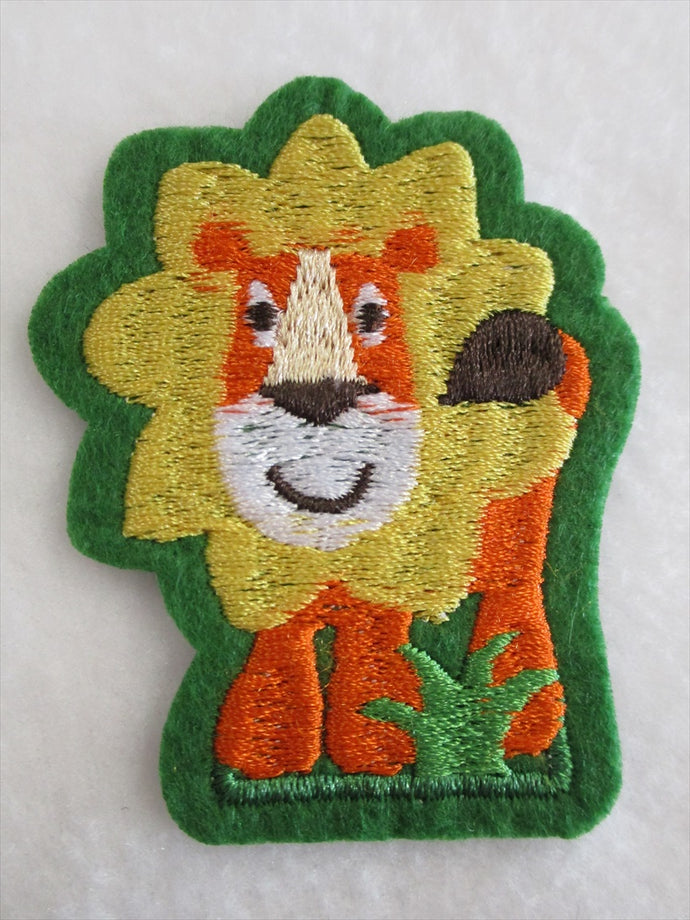 Lion Sew on or Stick on Embroidered Fabric Motif 6.5cm x 5cm