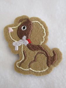 Dog Sew on or Stick on Embroidered Fabric Motif 5.5cm x 6.5cm