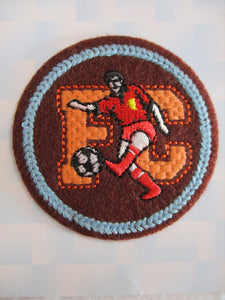 Football Patch Iron On or Sew on Embroidered Fabric Motif 6cm x 6cm