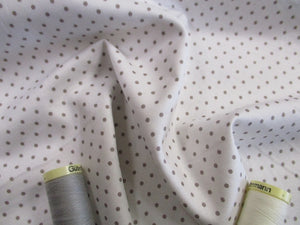Riley Blake Designs Silver Grey Swiss Dot on a White Background 100% Cotton