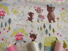Load image into Gallery viewer, Riley Blake Designs Goldilocks and the Three Bears on a cream Background  100% Cotton