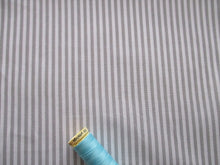 Load image into Gallery viewer, Candy Stripe 3mm Silver Grey & White 100% Cotton