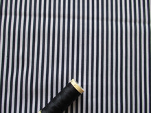 Load image into Gallery viewer, Candy Stripe 3mm Navy & White 100% Cotton