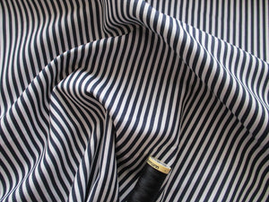 Candy Stripe 3mm Navy & White 100% Cotton