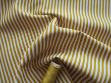 Load image into Gallery viewer, Candy Stripe 3mm Mustard Gold & White 100% Cotton