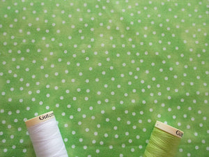 Textured Blenders White Spot on a Lime Background 100% Cotton