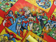 Load image into Gallery viewer, DC Vintage Comic Book Cover Multi 100% Cotton