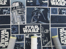 Load image into Gallery viewer, Star Wars Classic Blocks Shades of Blue 100% Cotton