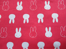 Load image into Gallery viewer, Miffy Silhouette Bright Pink & White 100% Cotton