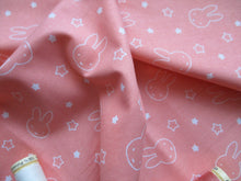 Load image into Gallery viewer, Miffy & Stars on a Peach Background 100% Cotton