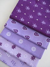 Load image into Gallery viewer, Essential Trend Purple Fat Quarter Bundle 100% Cotton