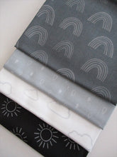 Load image into Gallery viewer, Rainbow Etchings 1 by Stuart Hillard Fat Quarters  100% Cotton