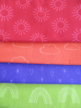 Load image into Gallery viewer, Rainbow Etchings 3 by Stuart Hillard Fat Quarters  100% Cotton