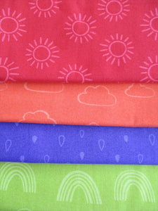 Rainbow Etchings 3 by Stuart Hillard Fat Quarters  100% Cotton